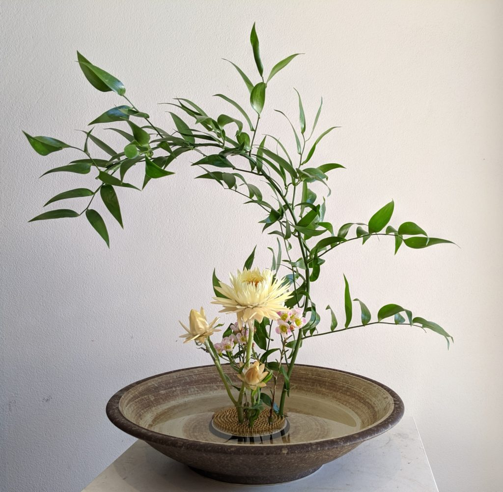 Hermes Rose Ikebana