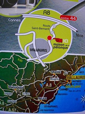 ペタンクハウスの地図